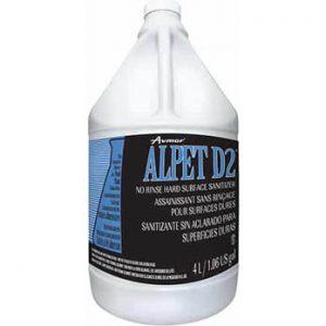 Assainissant sans rinçage pour surfaces dures ALPET D2   ABC Distribution