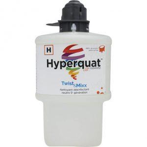 Nettoyant désinfectant neutre de 5e génération non parfumé HYPERQUAT pour Twist & Mixx | ABC Distribution