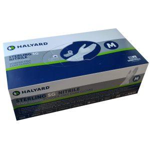 Gant Nitrile Sans Poudre Gris Sterling SG Halyard - Moyen - 250/bte | ABC Distribution