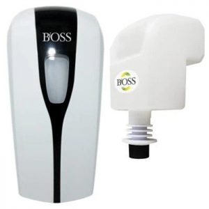 Distributrice automatique sans contact + 12 x recharges 850 ml antibactérien Bioss | ABC Distribution