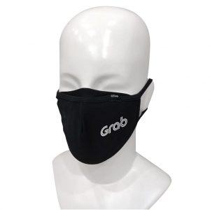 Masque Noir Réutilisable avec Logo Imprimé en Option | ABC Distribution