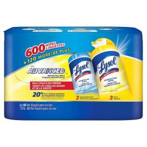Lingette désinfectante Lysol - Caisse 6 x 100 feuilles | ABC Distribution