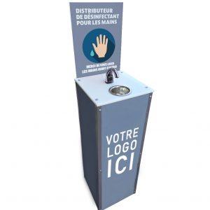 Borne Distributeur pour Gel Désinfectant sans contact Sanibox | ABC Distribution