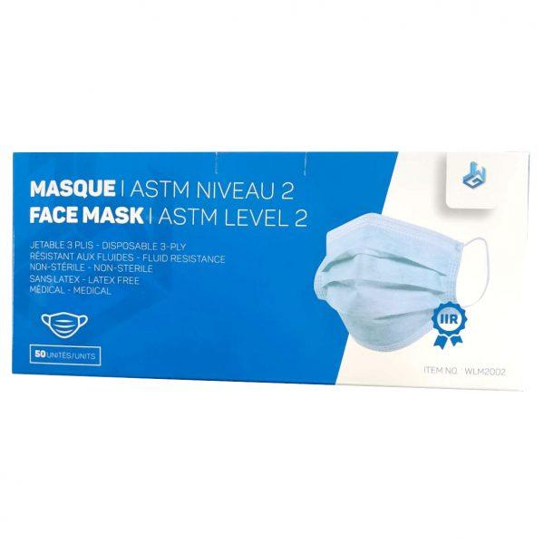 Masque Jetable ASTM Niveau 2 approuvé CNESST | ABC Distribution