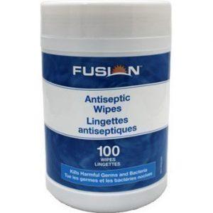 Lingettes antiseptiques à mains FUSION, 100 lingettes/tube | ABC Distribution