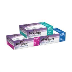 Gants d'examen en Nitrile Sans Poudre AMD Ritmed 3mil Bleu | ABC Distribution
