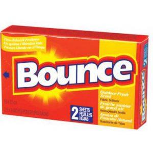 Assouplissant textile en feuille pour distributrice BOUNCE - Caisse de 156 boîtes   ABC Distribution